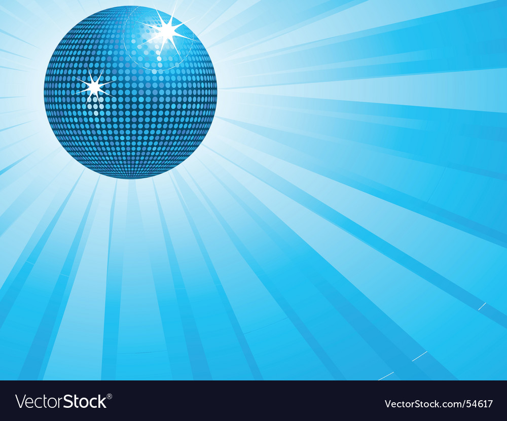 Blue disco ball and wings vector | Price: 1 Credit (USD $1)