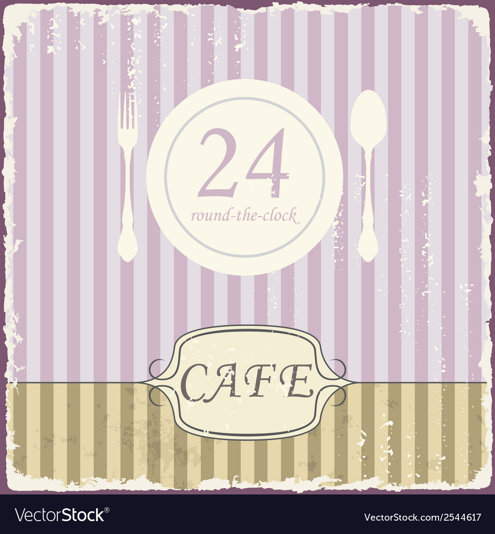 Cafe shop vintage retro template vector | Price: 1 Credit (USD $1)