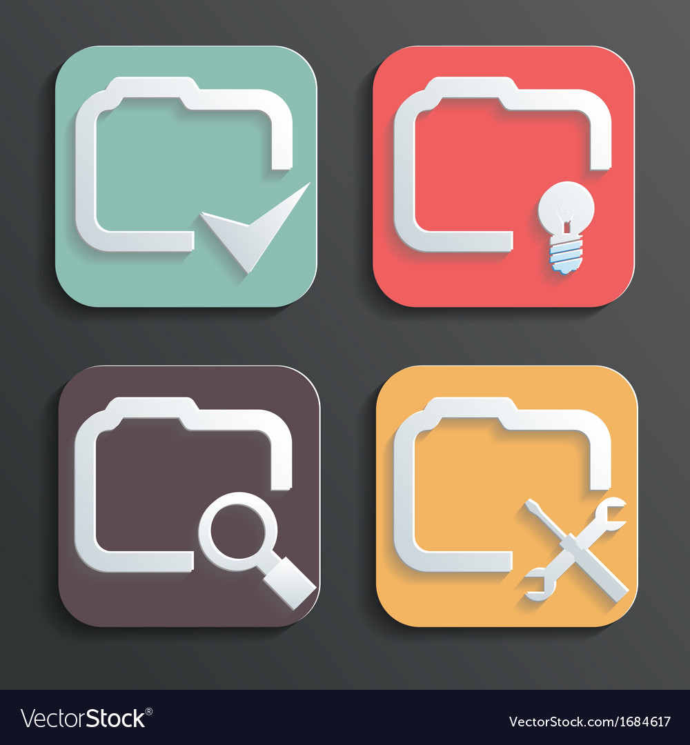 Design folder icons for web and mobile vector | Price: 1 Credit (USD $1)