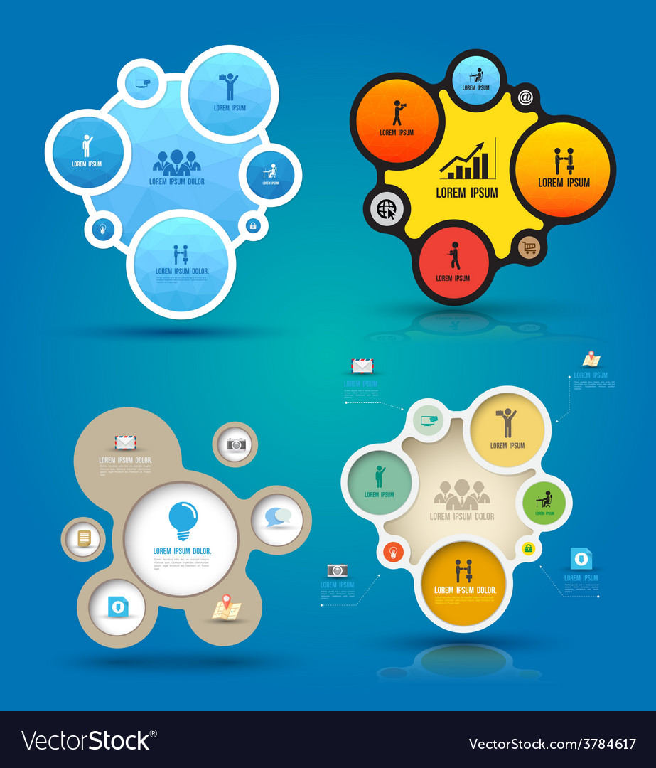 Infographic elements with icons set vector | Price: 1 Credit (USD $1)