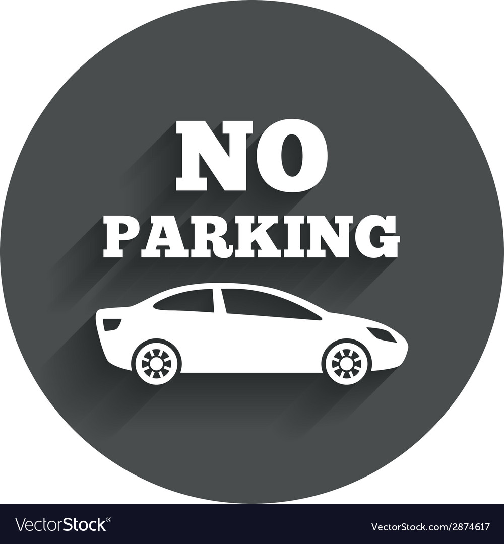 No parking sign icon private territory symbol vector | Price: 1 Credit (USD $1)