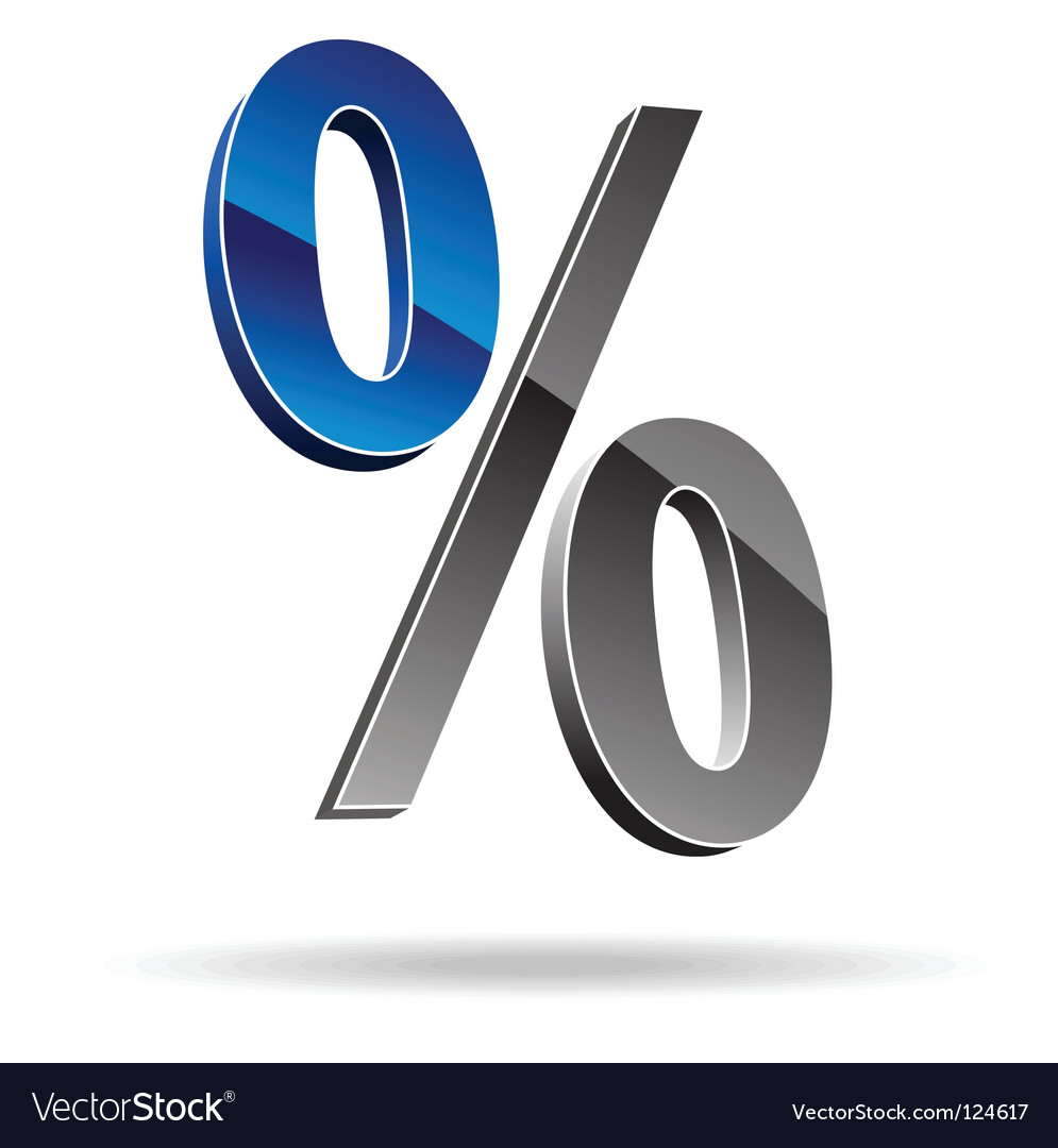 Percent symbol vector | Price: 1 Credit (USD $1)