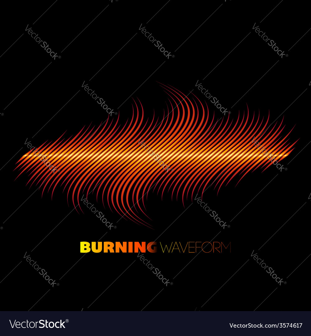 Sharp fire waveform vector | Price: 1 Credit (USD $1)