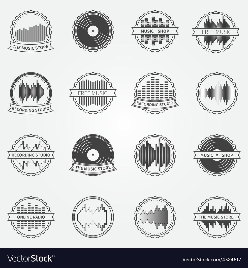 Sound logo and emblem set vector | Price: 1 Credit (USD $1)