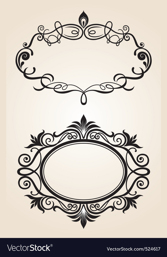 Vintage frame set vector | Price: 1 Credit (USD $1)
