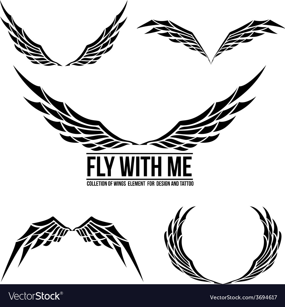 Wing element for design 001 vector | Price: 1 Credit (USD $1)