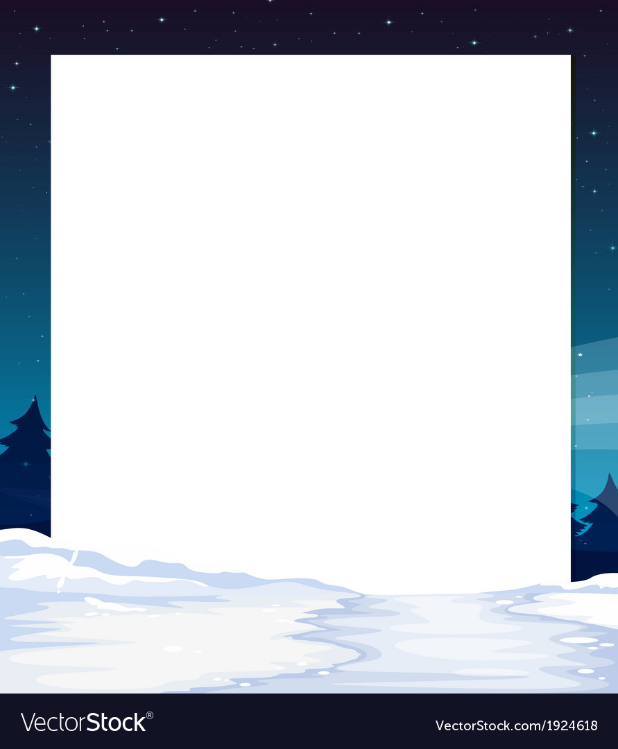 An empty paper template with a snow-covered land vector | Price: 1 Credit (USD $1)