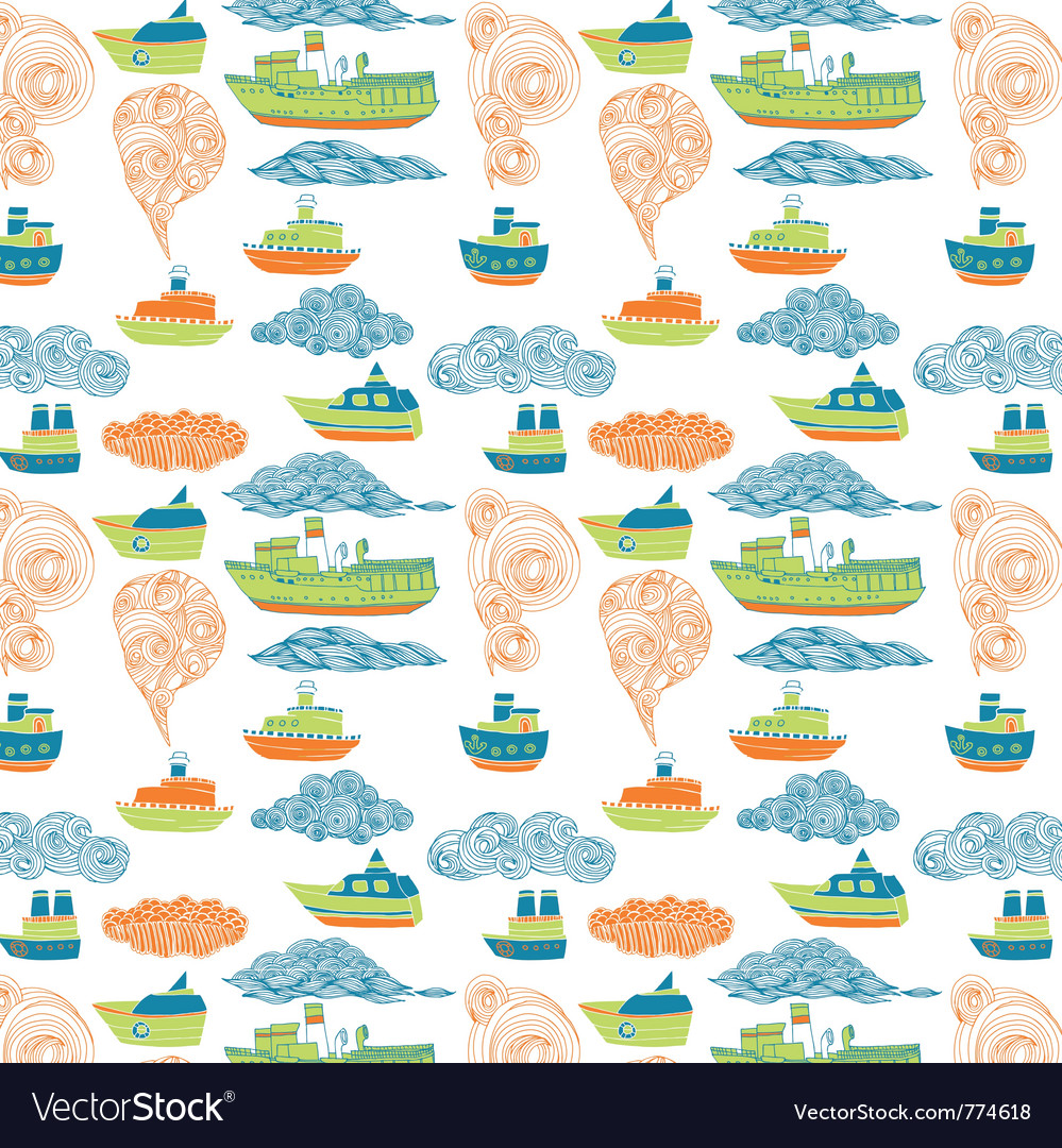 Boat wallpaper vector | Price: 1 Credit (USD $1)
