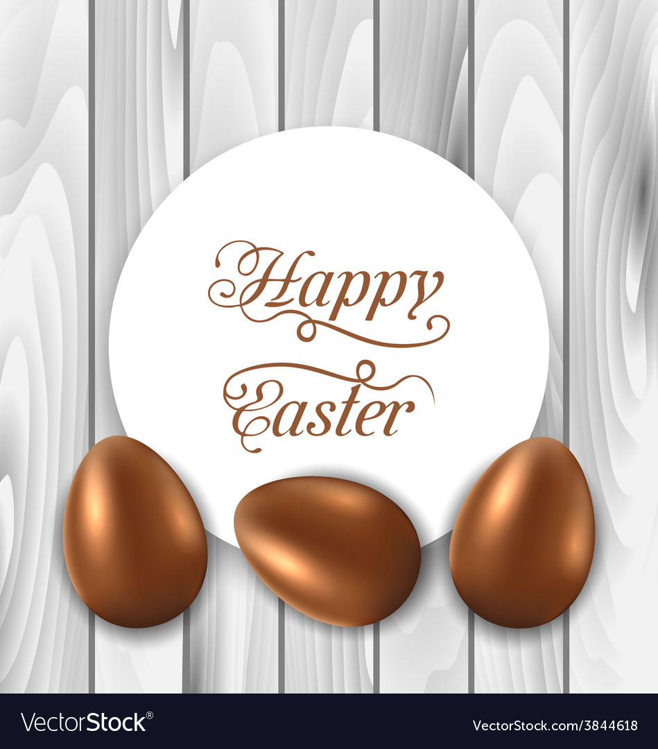 Celebration card with easter chocolate eggs on vector | Price: 1 Credit (USD $1)