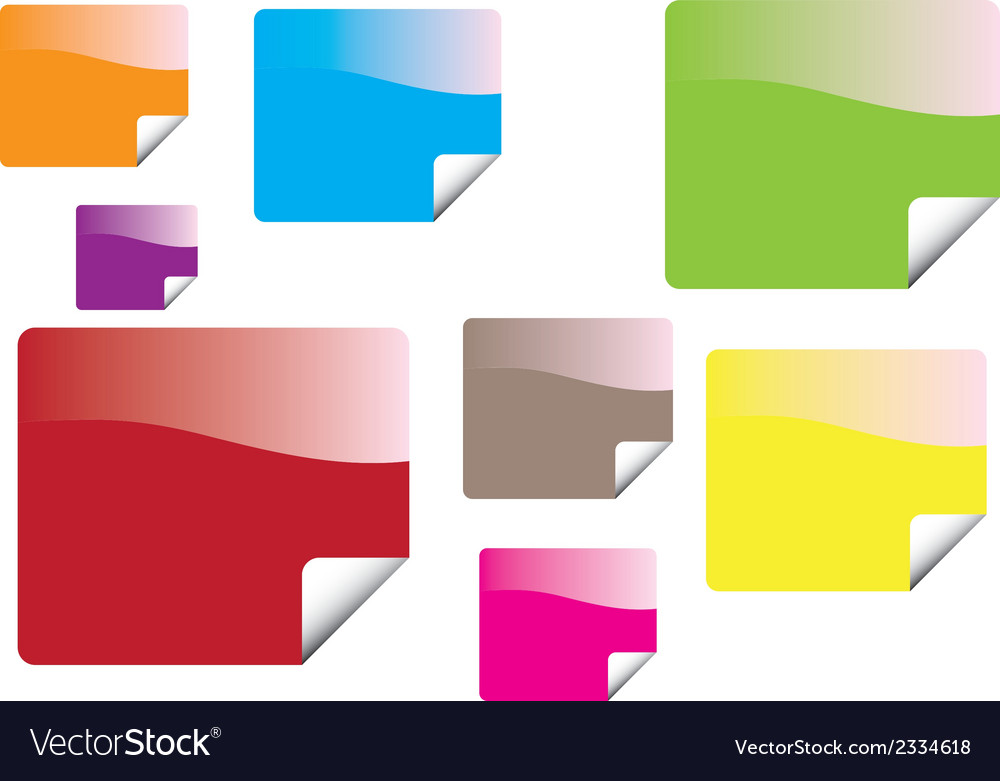 Color stickers vector | Price: 1 Credit (USD $1)