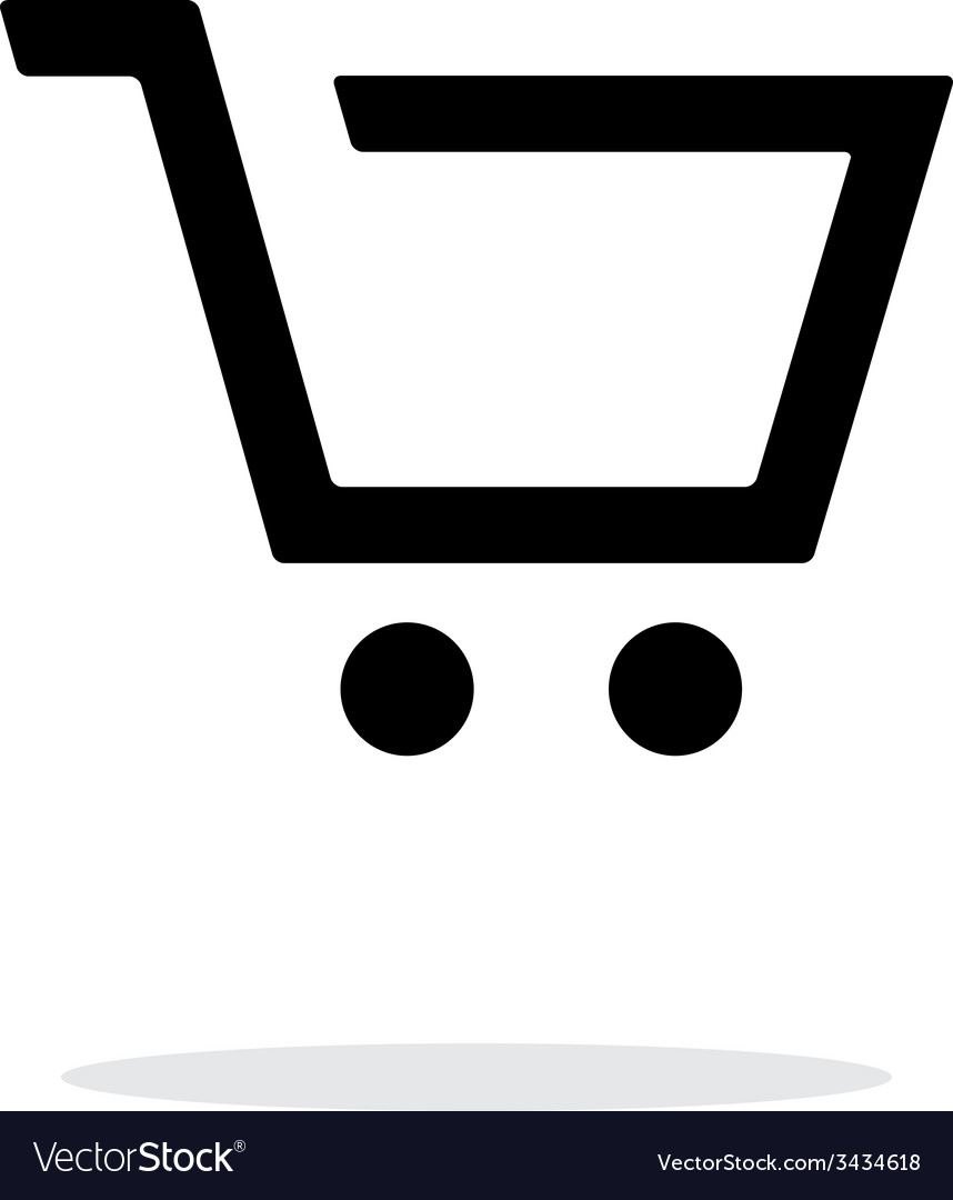 Empty supermarket shopping cart simple icon on vector | Price: 1 Credit (USD $1)