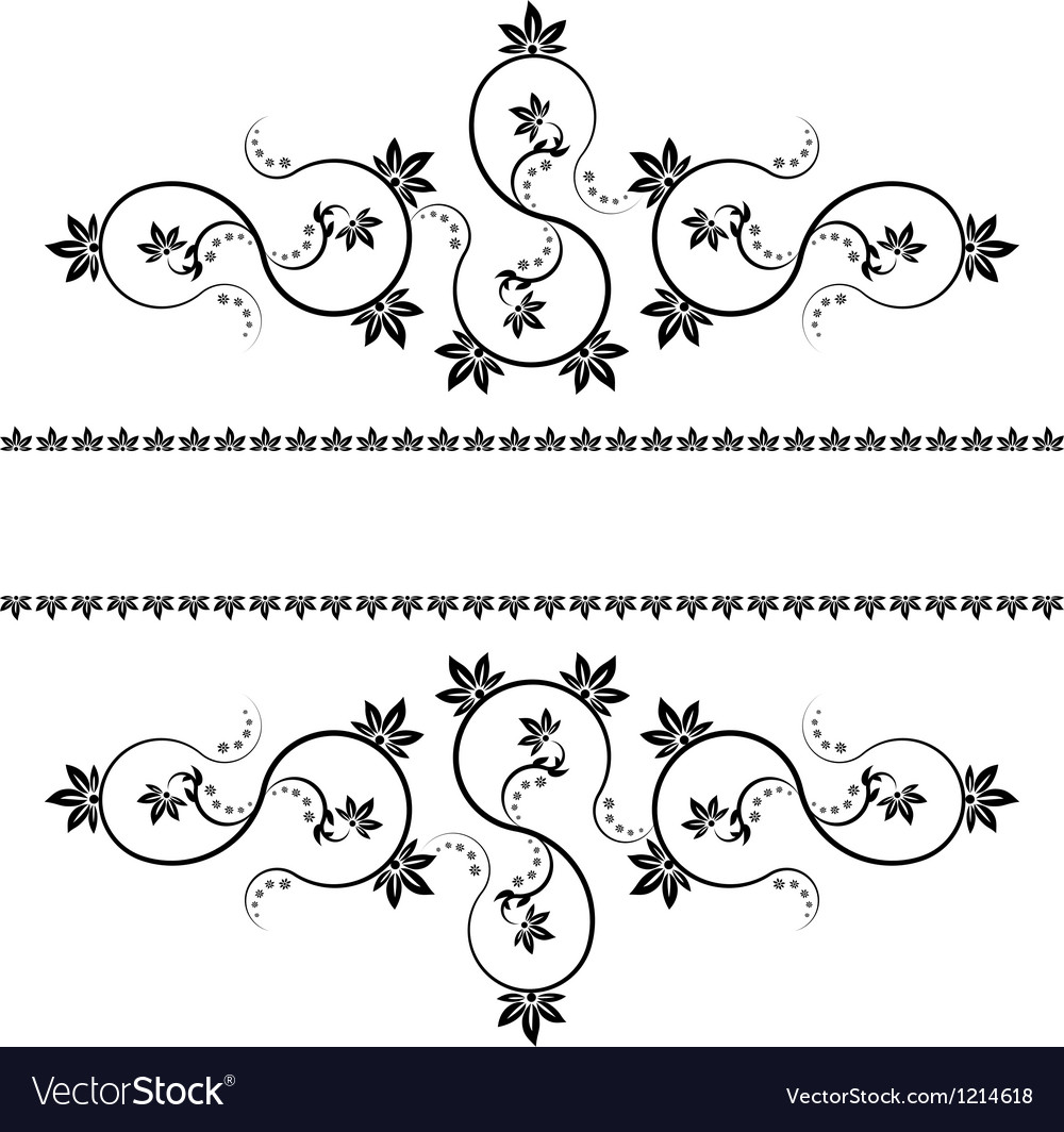 Frame with monograms for design and decorate vector | Price: 1 Credit (USD $1)