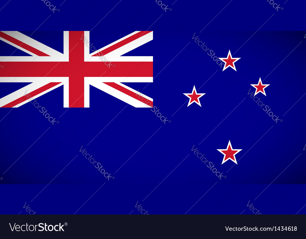 National flag of new zealand vector | Price: 1 Credit (USD $1)