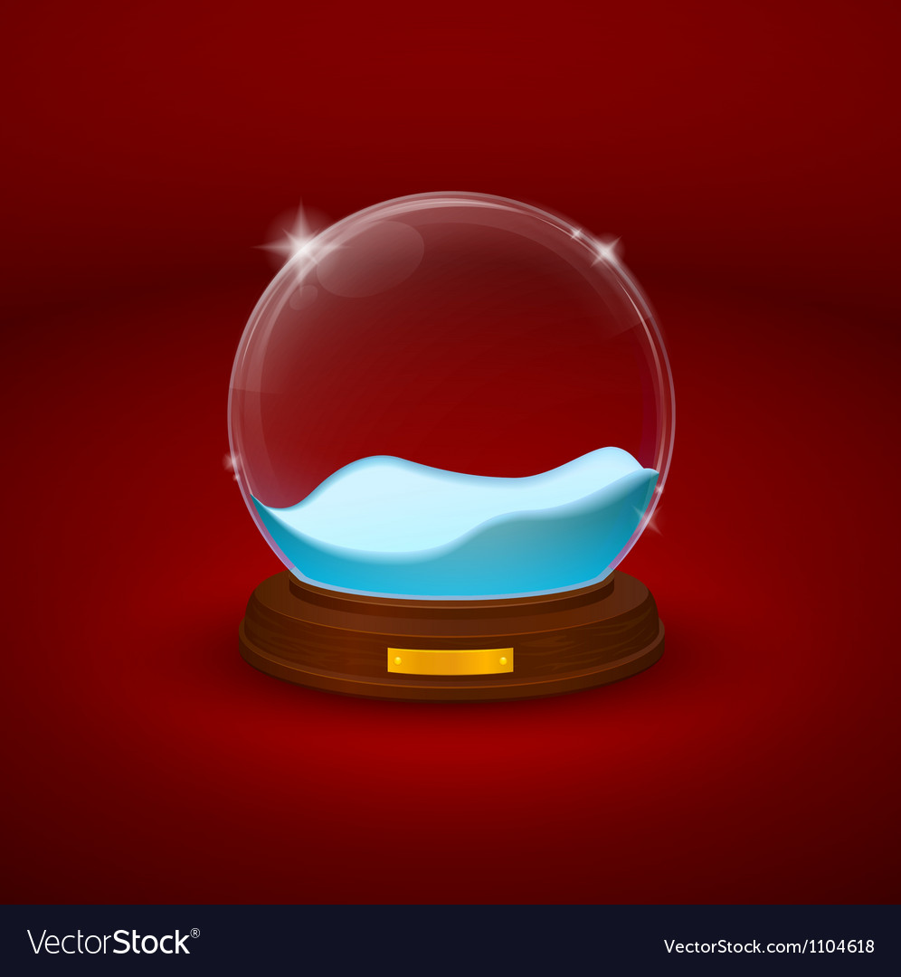 Snow dome or crystal ball vector | Price: 3 Credit (USD $3)