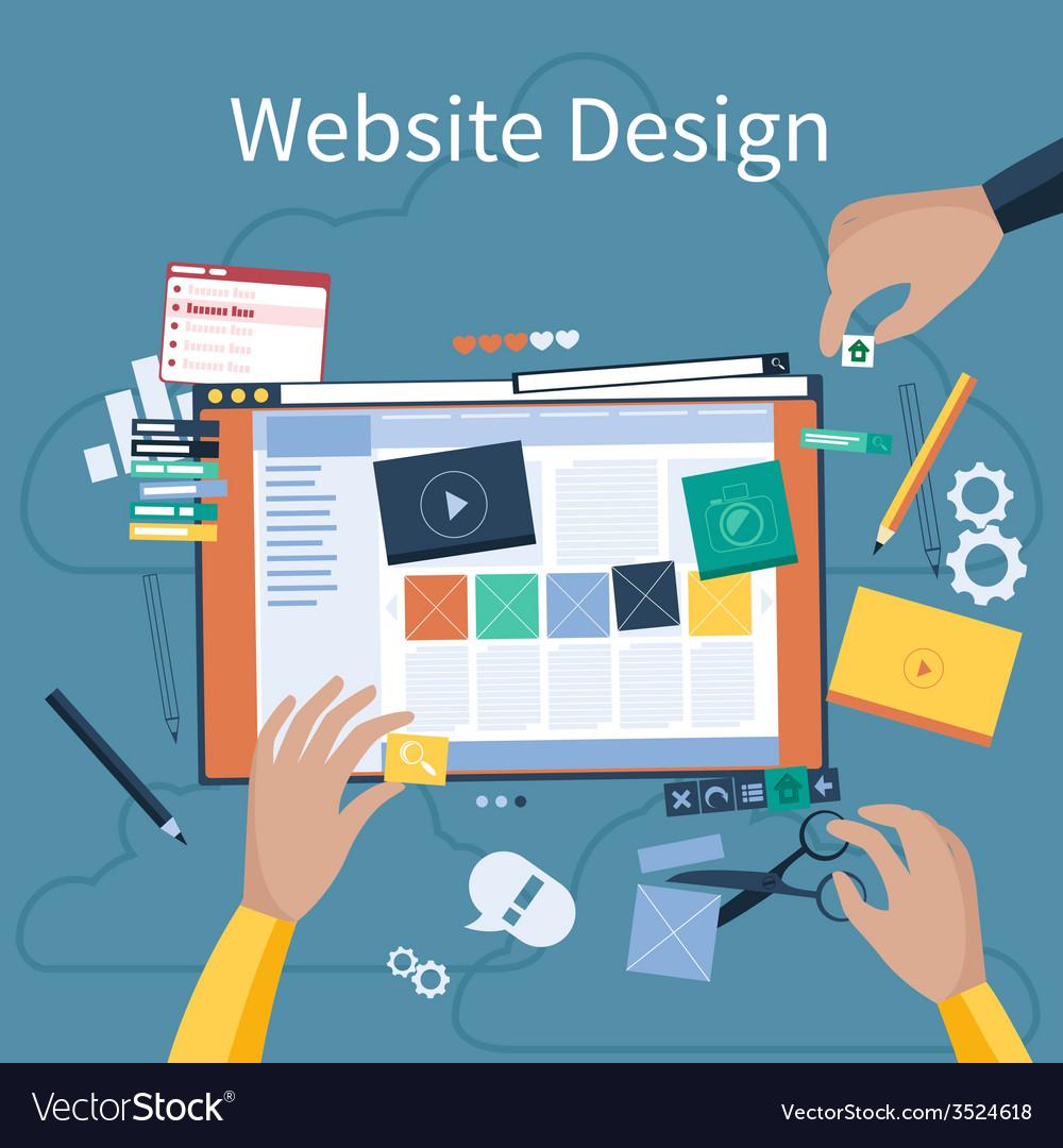 Website design vector | Price: 1 Credit (USD $1)