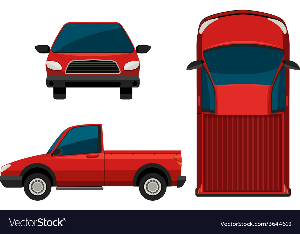 A red truck vector | Price: 1 Credit (USD $1)