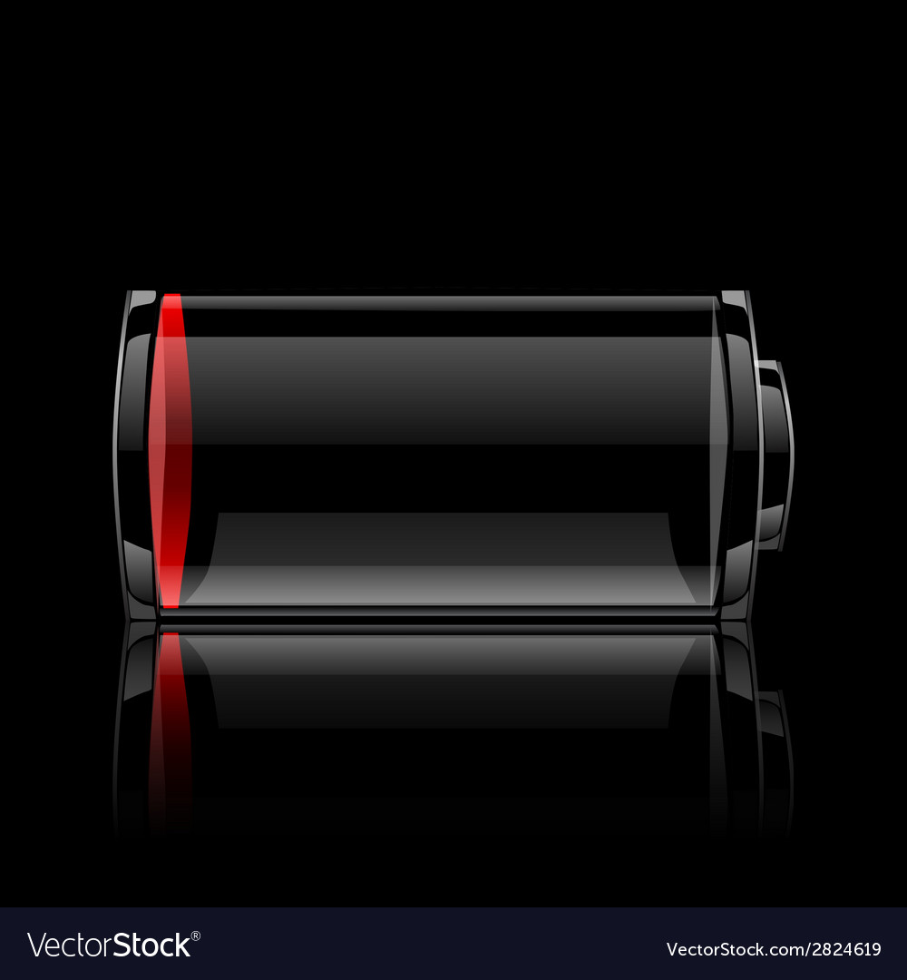 Battery glossy web icon vector | Price: 1 Credit (USD $1)