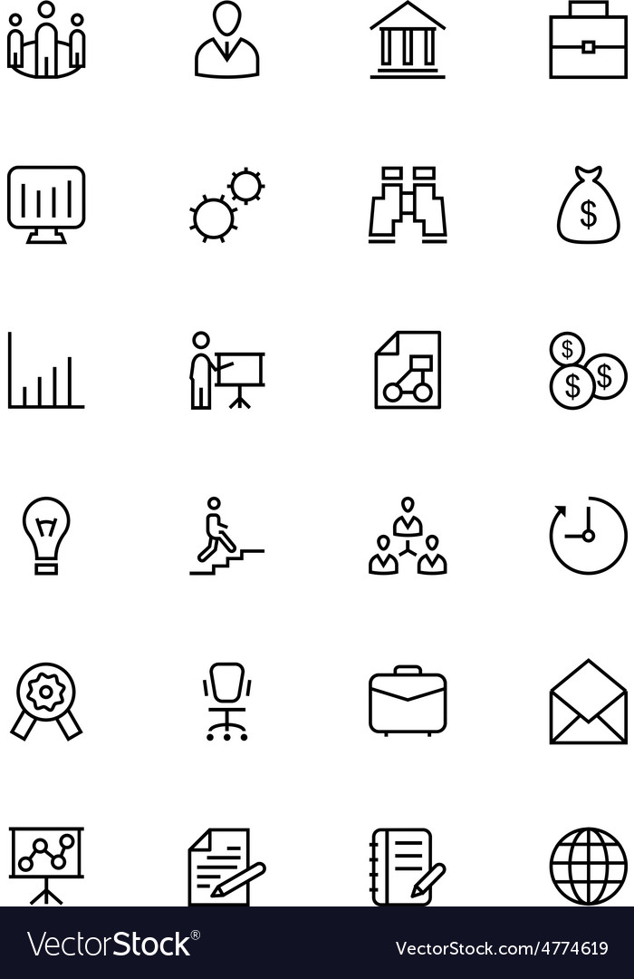 Business and finance line icons 1 vector | Price: 1 Credit (USD $1)