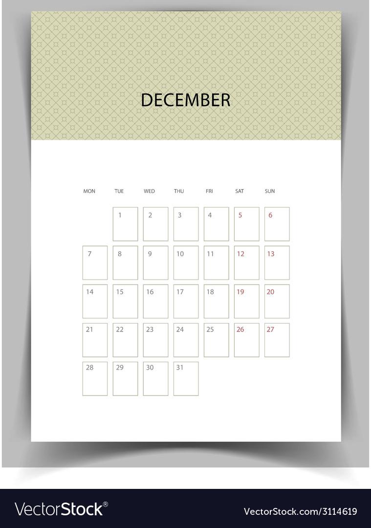 Calendar for 2015 vector | Price: 1 Credit (USD $1)