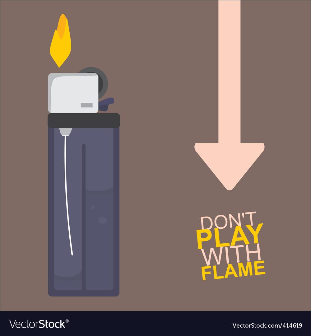 Cigarette lighter vector | Price: 1 Credit (USD $1)