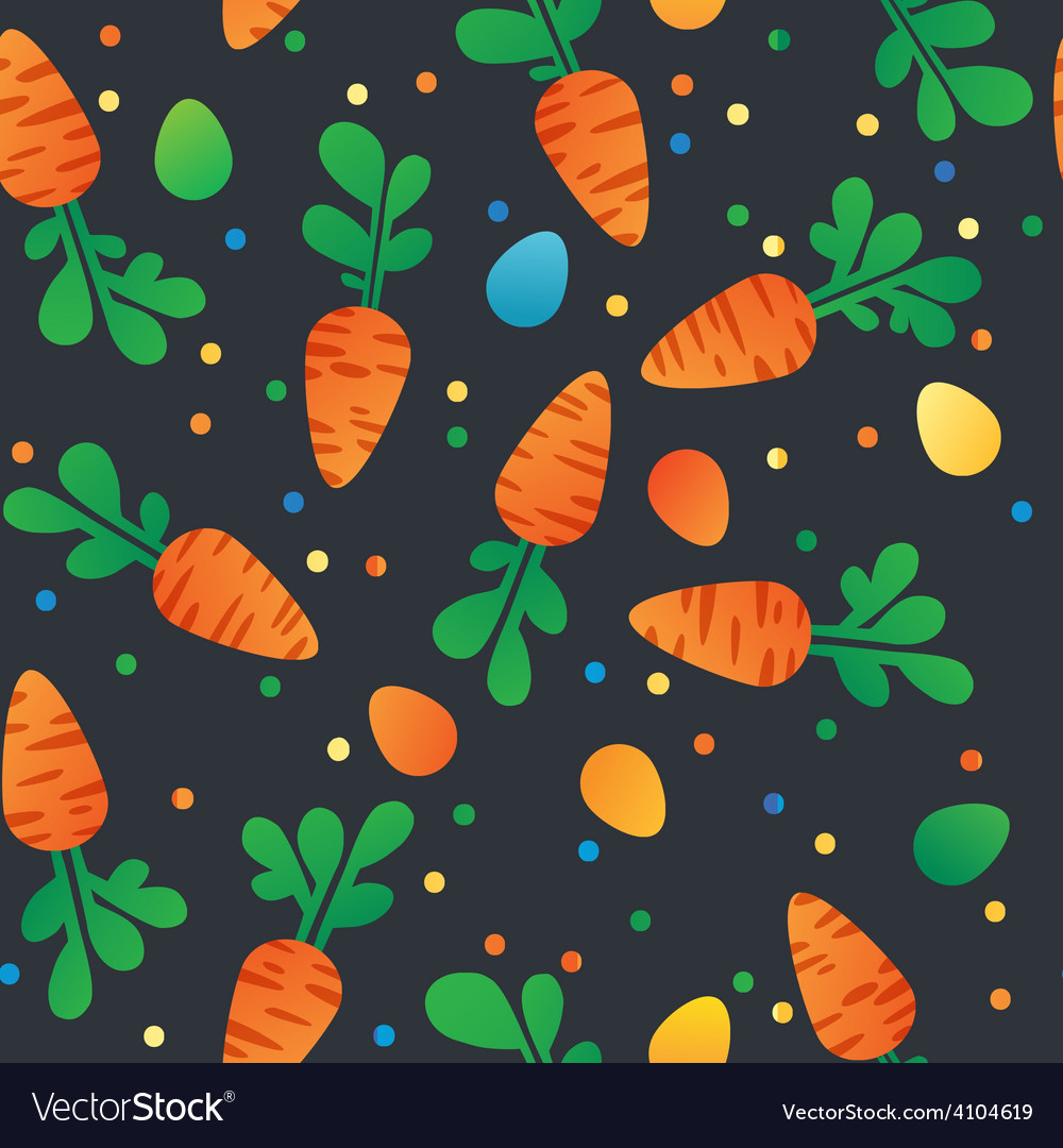 Eastern carrot and eggs seamless pattern vector | Price: 1 Credit (USD $1)