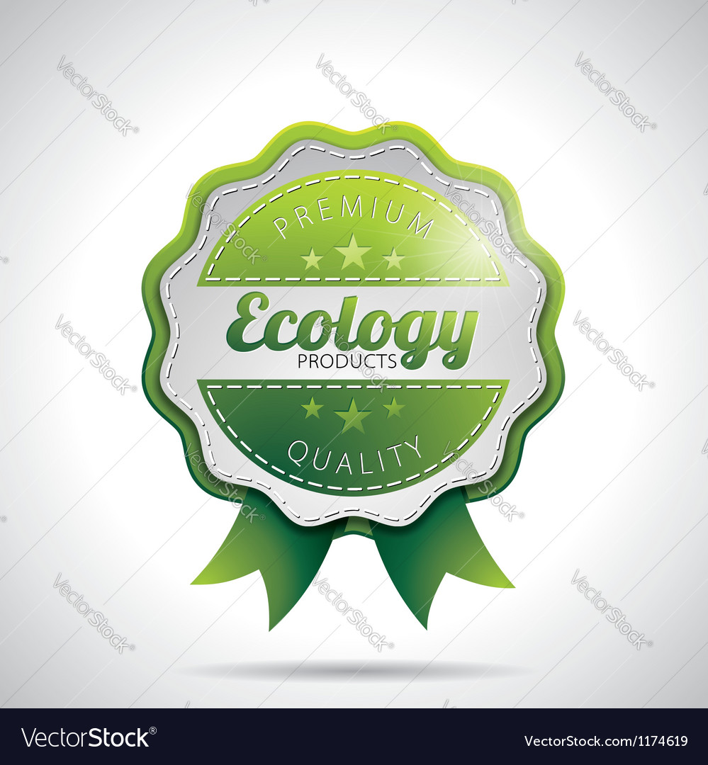 Ecology product labels with shiny styled design vector | Price: 1 Credit (USD $1)
