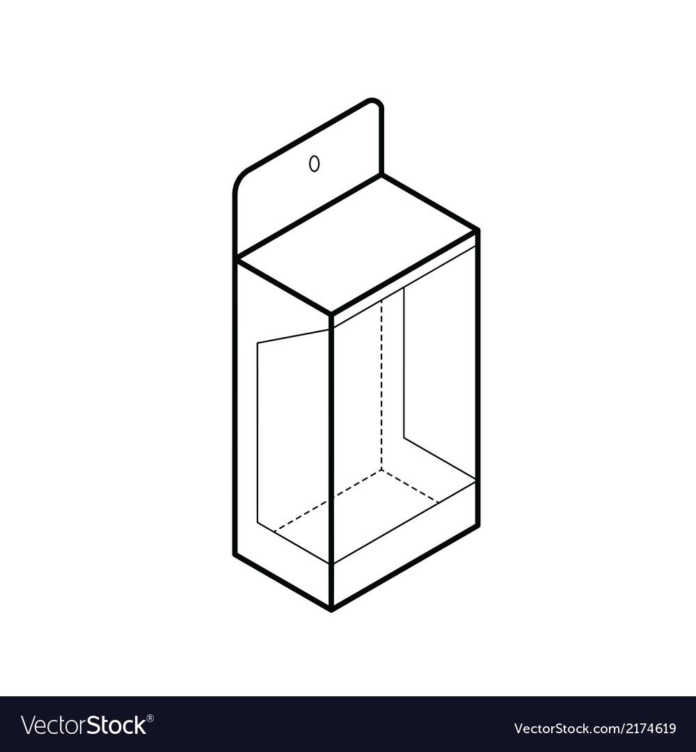 Empty showcase box vector | Price: 1 Credit (USD $1)