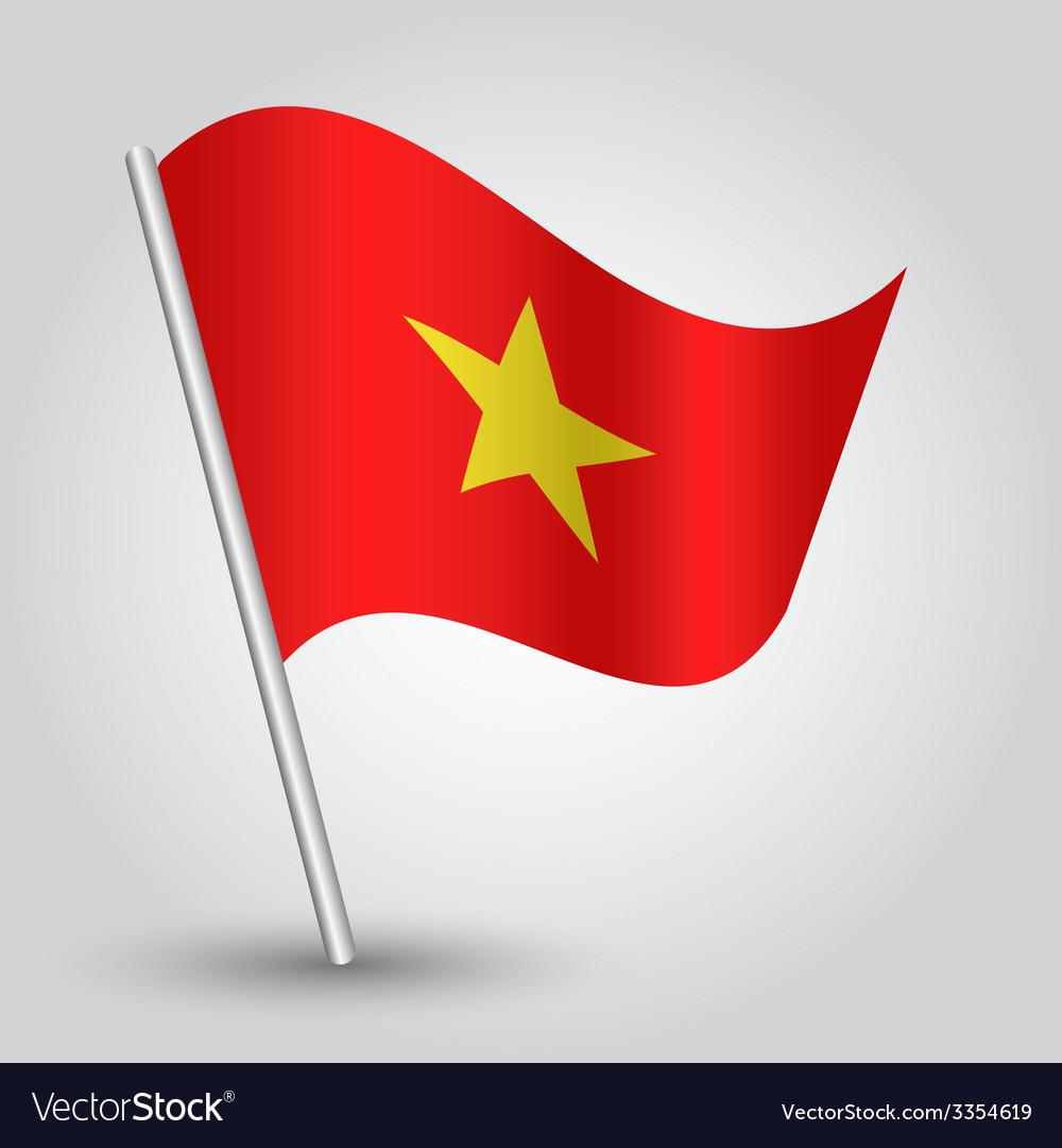 Flag vietnam vector | Price: 1 Credit (USD $1)