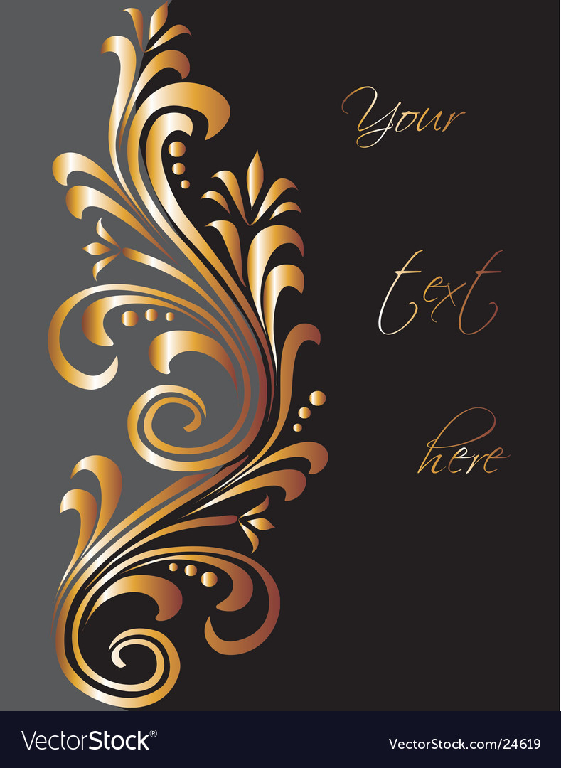 Golden swirls vector | Price: 1 Credit (USD $1)