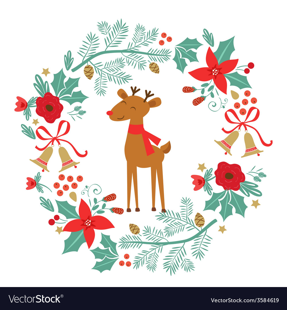 Merry christmas composition vector | Price: 1 Credit (USD $1)