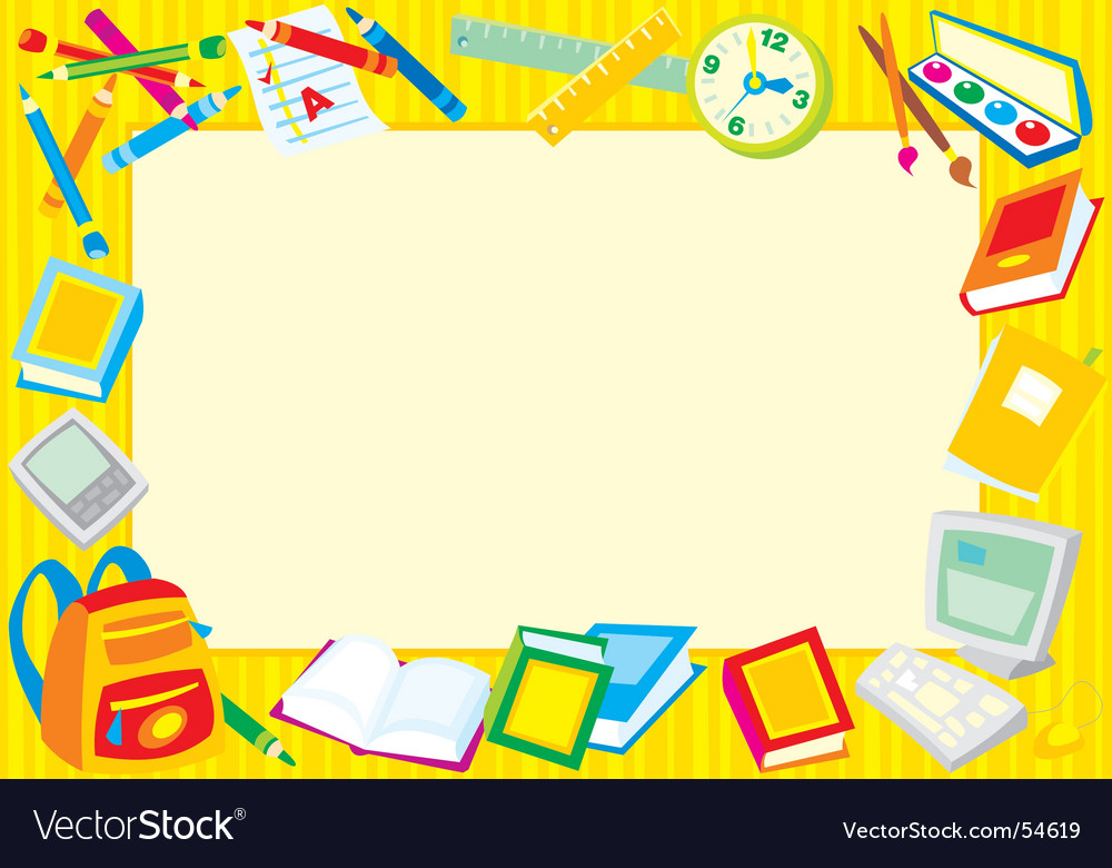 School frame vector | Price: 1 Credit (USD $1)