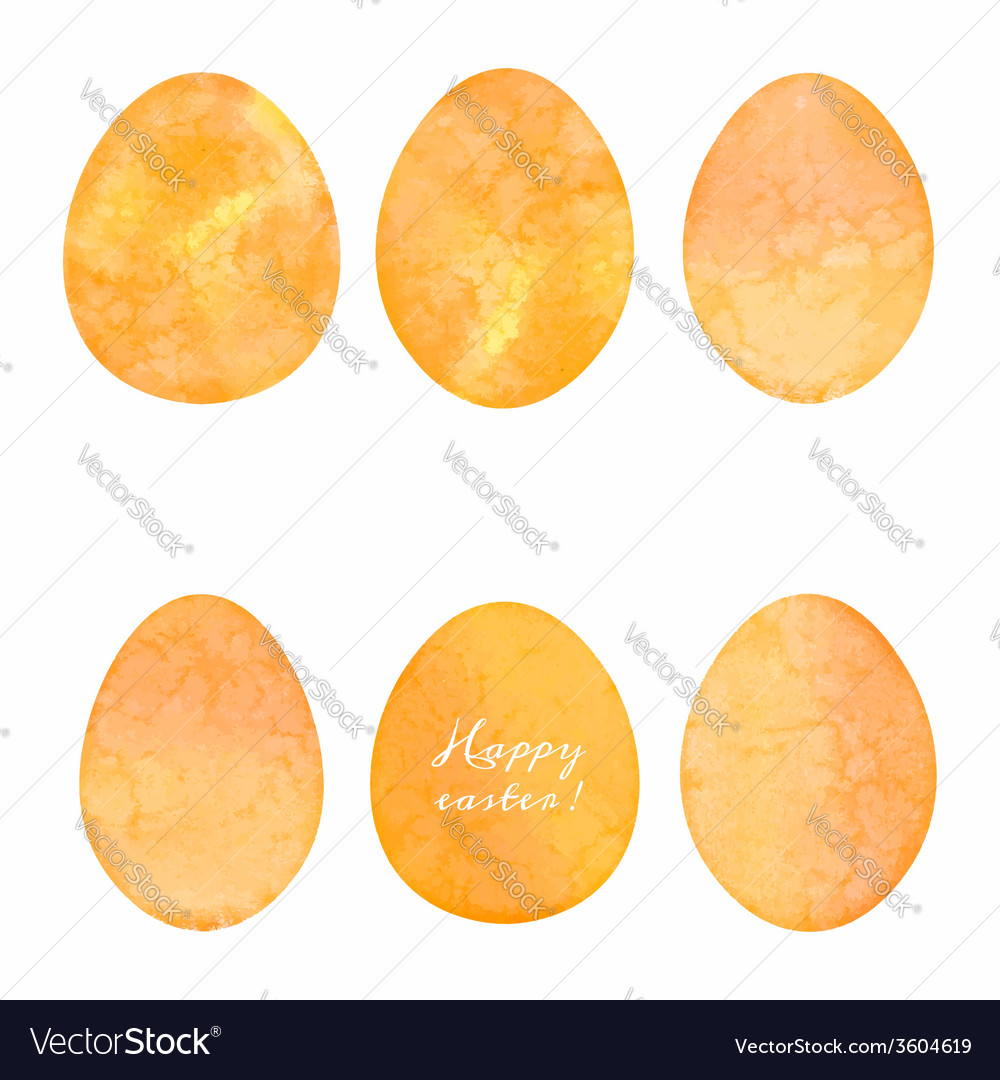 Set of watercolor eggs easter design elements vector | Price: 1 Credit (USD $1)