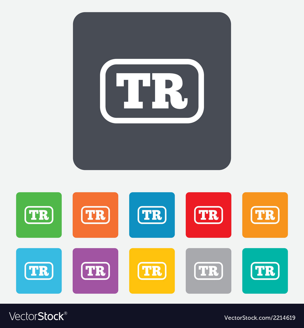 Turkish language sign icon tr translation vector | Price: 1 Credit (USD $1)