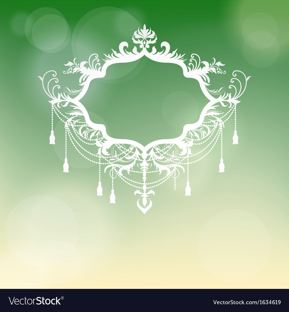 Vintage frame at blurry background for design vector | Price: 1 Credit (USD $1)