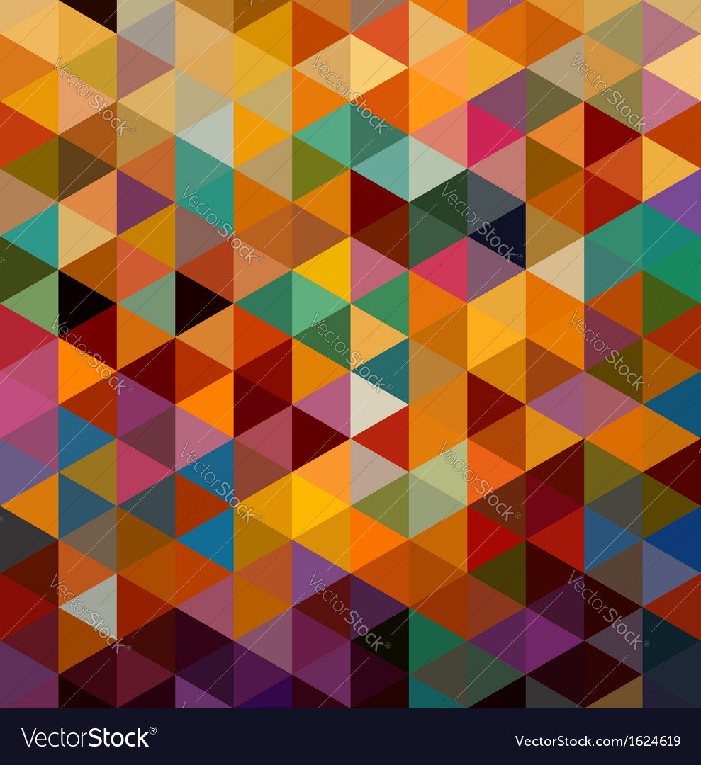 Vintage triangles seamless pattern background vector | Price: 1 Credit (USD $1)