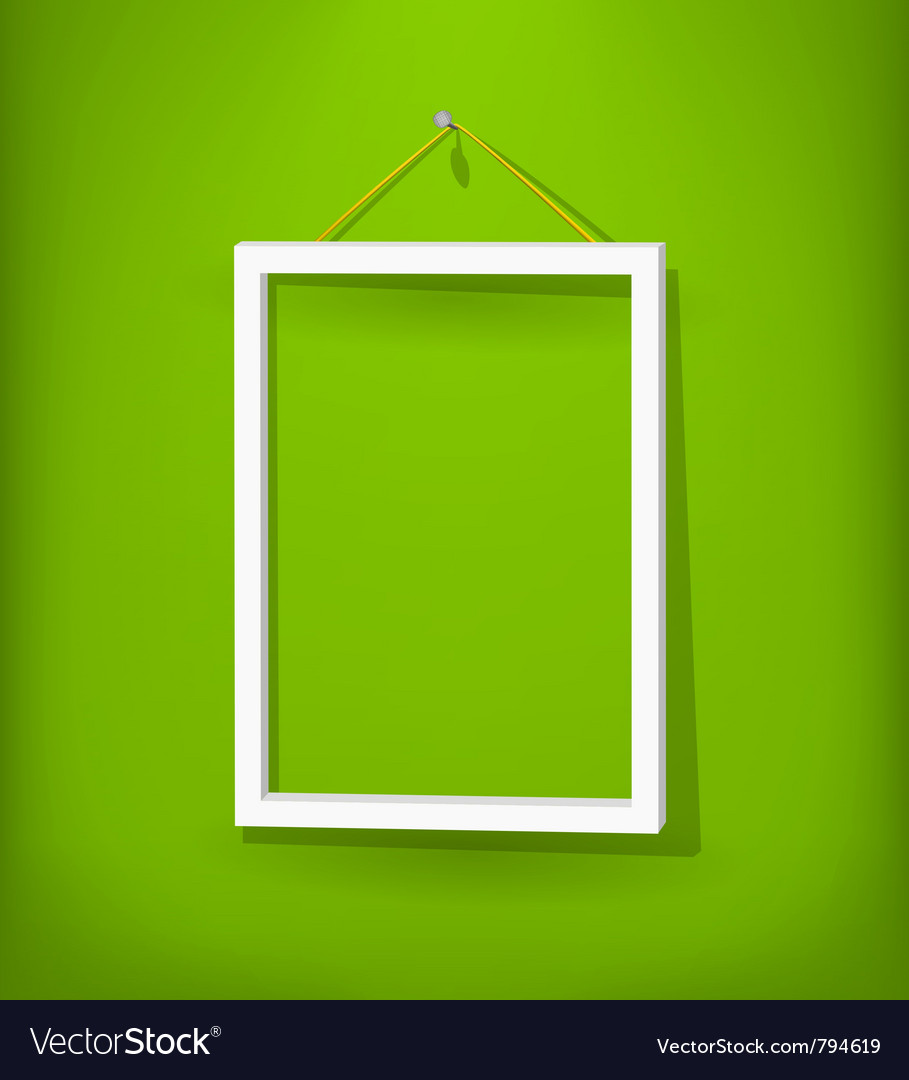 White frame on the wall vector | Price: 1 Credit (USD $1)