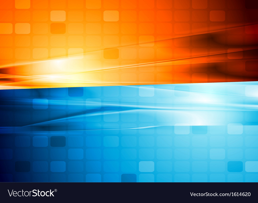 Blue and orange abstract tech design vector | Price: 1 Credit (USD $1)
