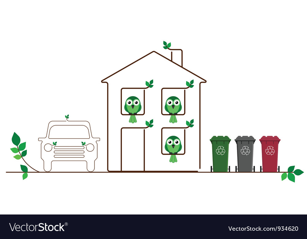 Eco friendly family vector | Price: 1 Credit (USD $1)