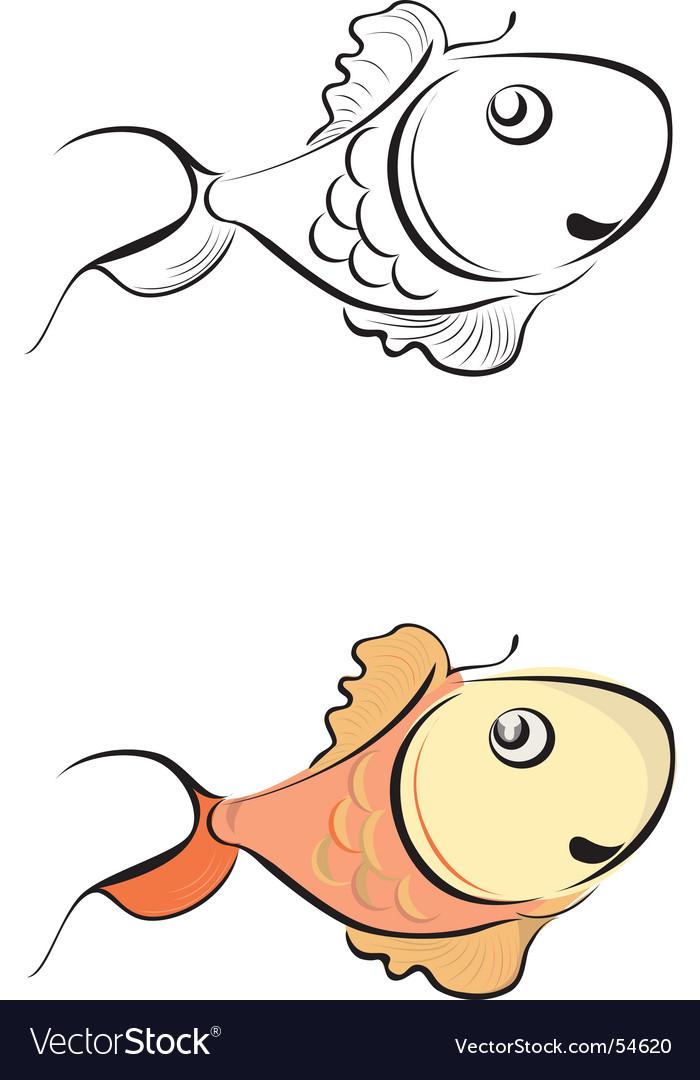 Goldfish vector | Price: 1 Credit (USD $1)