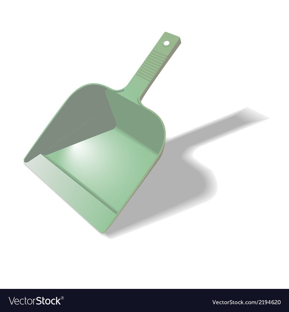 Green scoop for cleaning vector | Price: 1 Credit (USD $1)