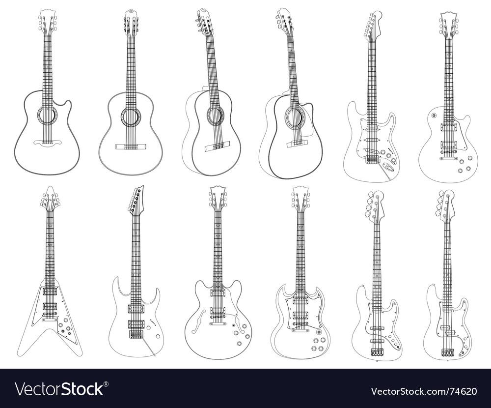 Guitars vector | Price: 1 Credit (USD $1)