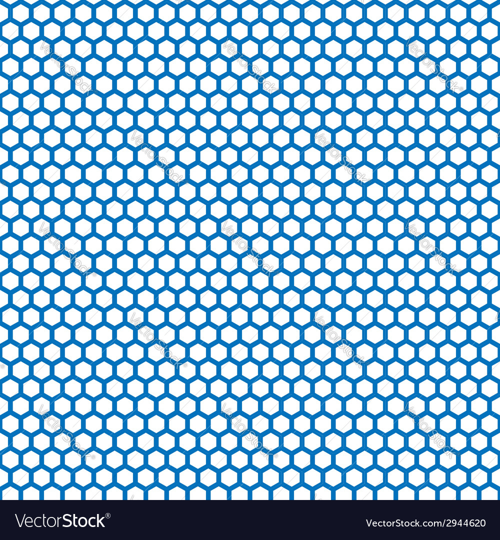 Honeycomb seamless pattern in blue color vector | Price: 1 Credit (USD $1)