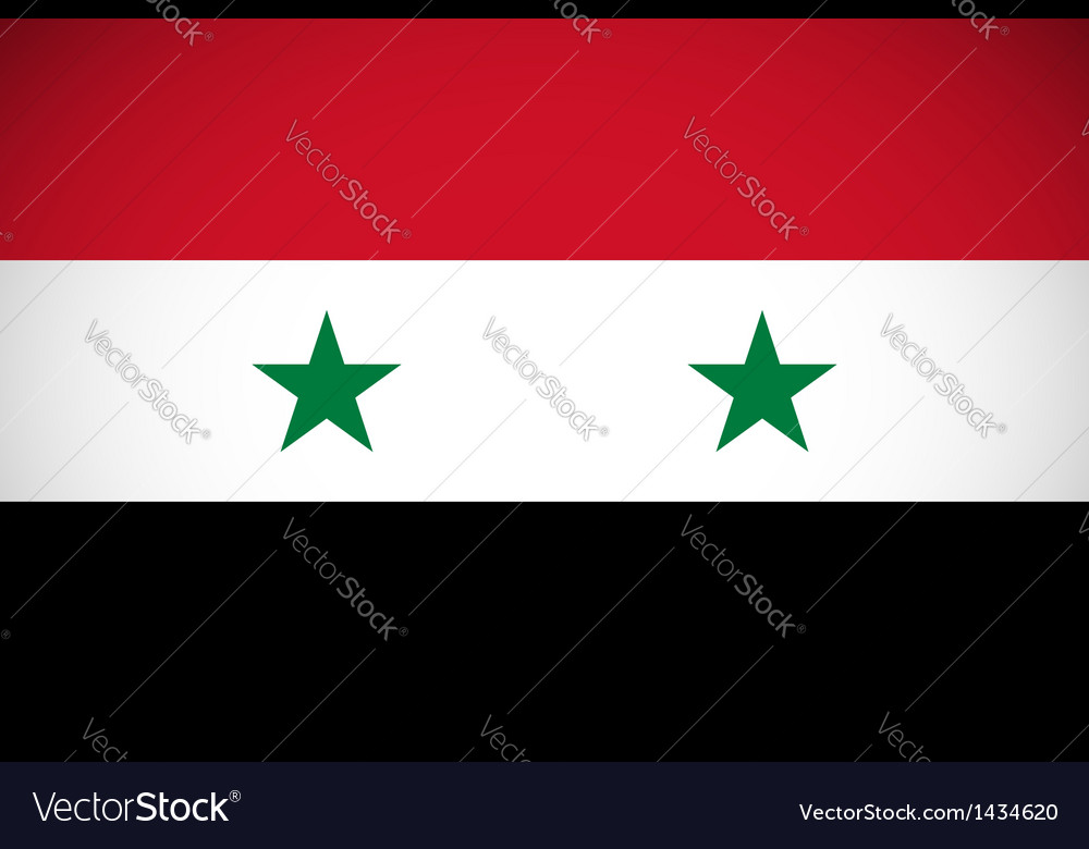National flag of syria vector | Price: 1 Credit (USD $1)