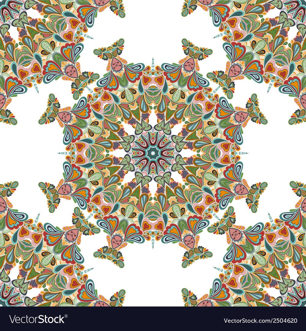 Round seamless pattern vector | Price: 1 Credit (USD $1)