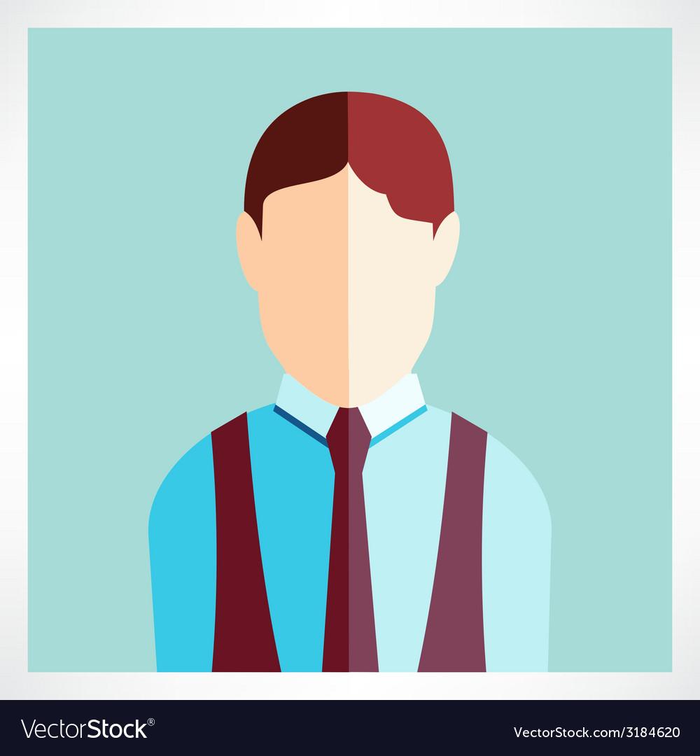 Schoolboy flat icon vector | Price: 1 Credit (USD $1)