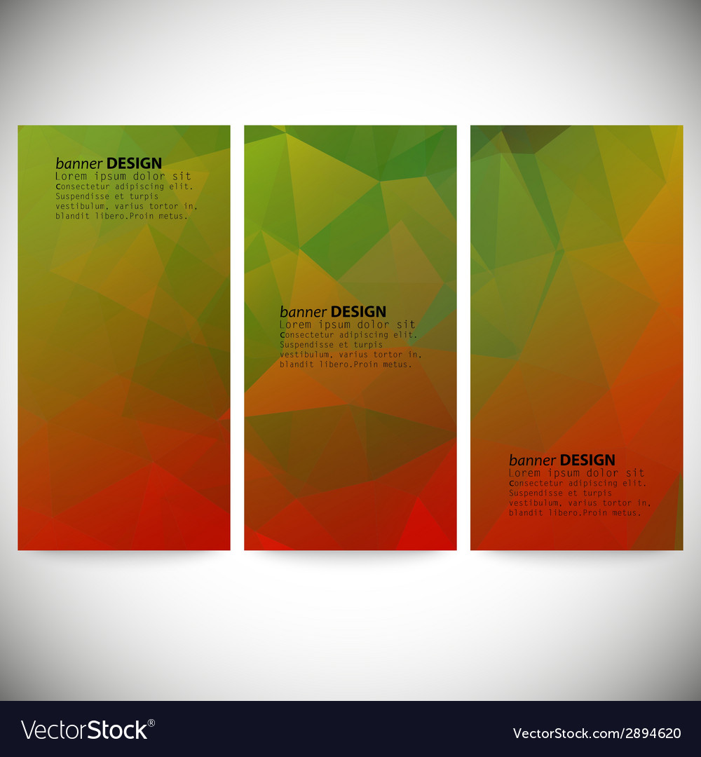 Set of vertical banners abstract background vector | Price: 1 Credit (USD $1)