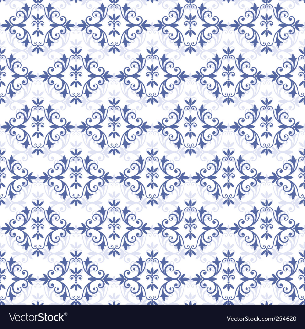 White blue seamless pattern vector | Price: 1 Credit (USD $1)