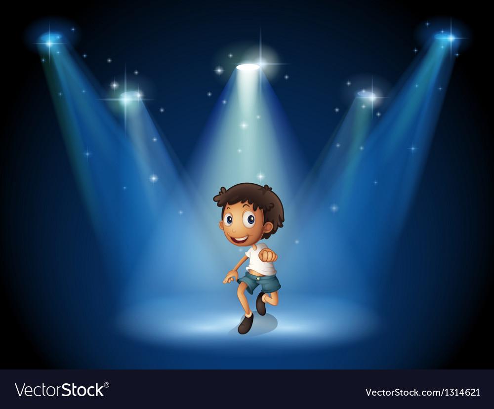 A boy dancing with spotlights vector | Price: 1 Credit (USD $1)