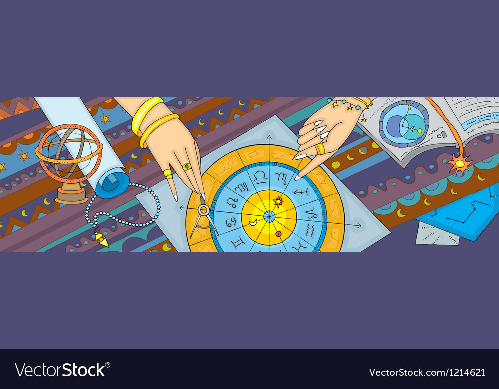 Astrology prognostication banner vector | Price: 3 Credit (USD $3)