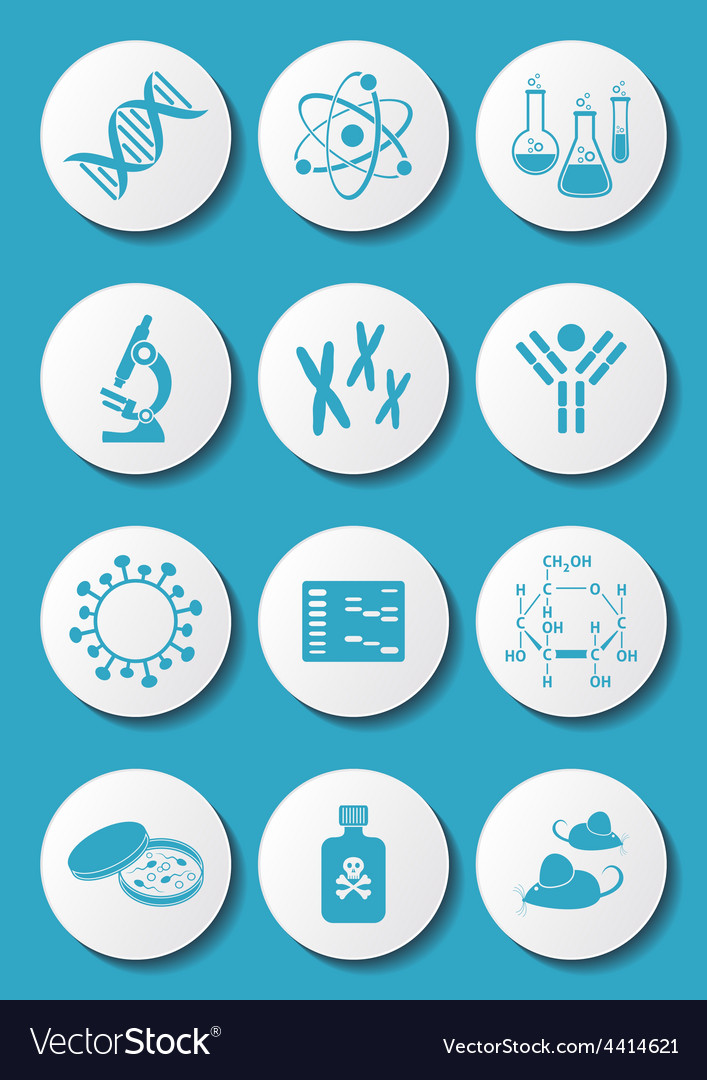 Biology science icons vector | Price: 1 Credit (USD $1)